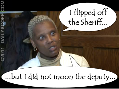Idiotic Cheryl Smith flips off Sheriff David Clarke