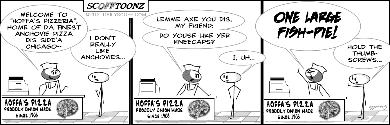 Cartoon:  Palermo - Union pizza?