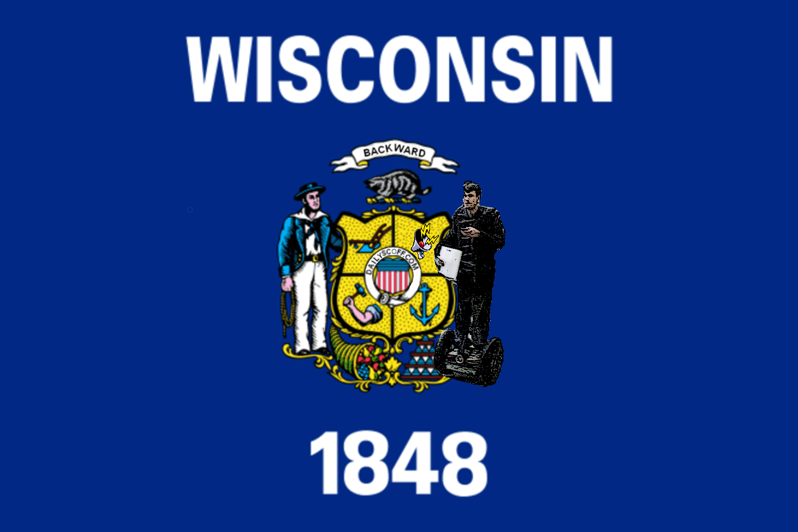 Put Segway Boy on the Wisconsin State Flag?